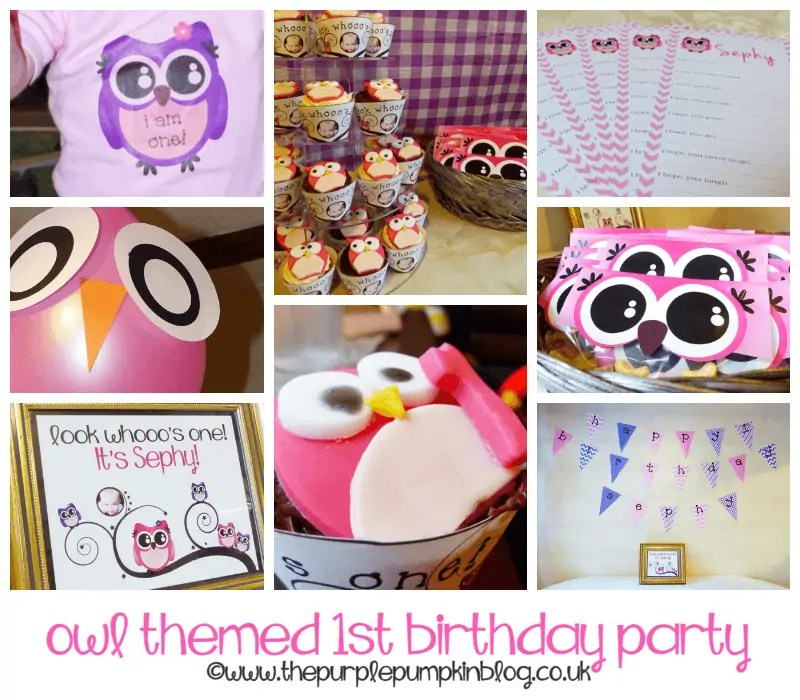 Owl Themed 1st Birthday Party