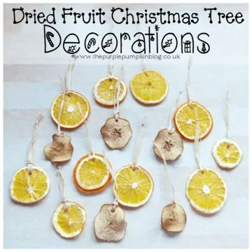 Dried Fruit Christmas Tree Decorations
