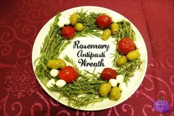 Rosemary Antipasti Wreath