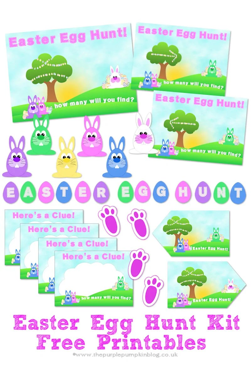 photograph about Printable Easter Egg Hunt Clues called Easter Egg Hunt Package - Absolutely free Printables