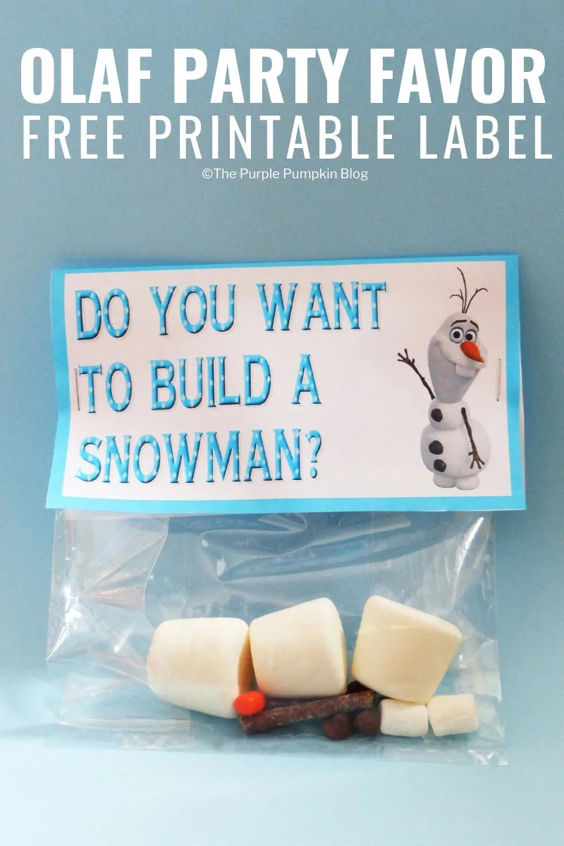 graphic about Frozen Party Food Labels Free Printable referred to as Do Your self Have to have Toward Develop A Snowman - Olaf Occasion Desire Printable