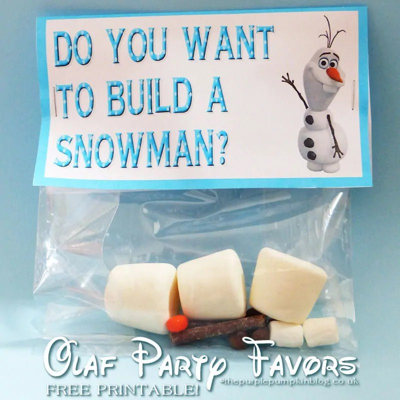 Do You Want To Build A Snowman - Olaf Party Favor Printable