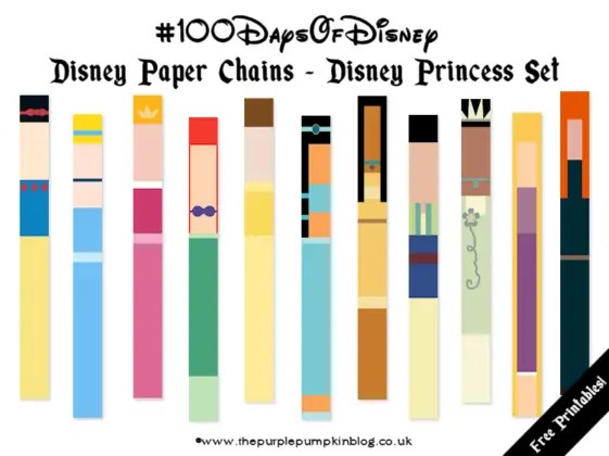 Disney Paper Chains - Disney Princess Set - Free Printable