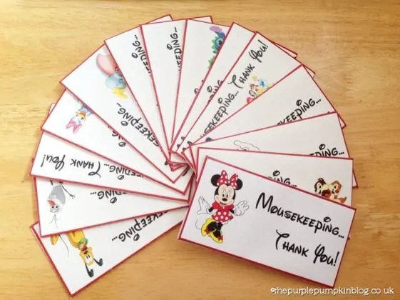 Disney Mousekeeping Tip Envelopes
