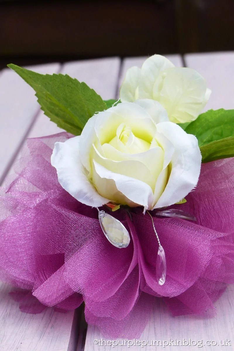 How To Make A Wrist Corsage For A Wedding The Purple