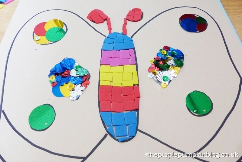 Crafts For Kids - Butterfly Collage