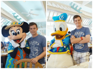 Meeting Minnie and Donald