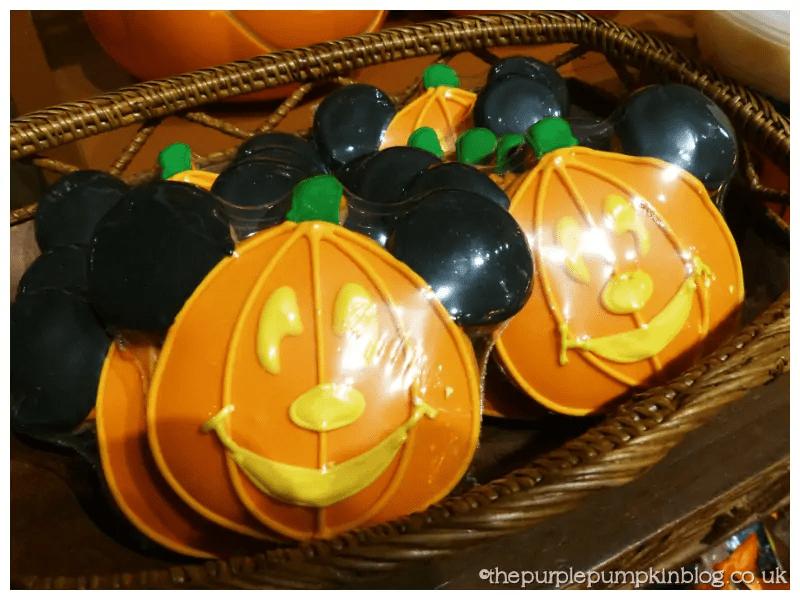 Pumpkin Mickey Cookies