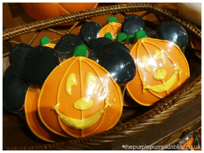 Pumpkin Mickey Cookies