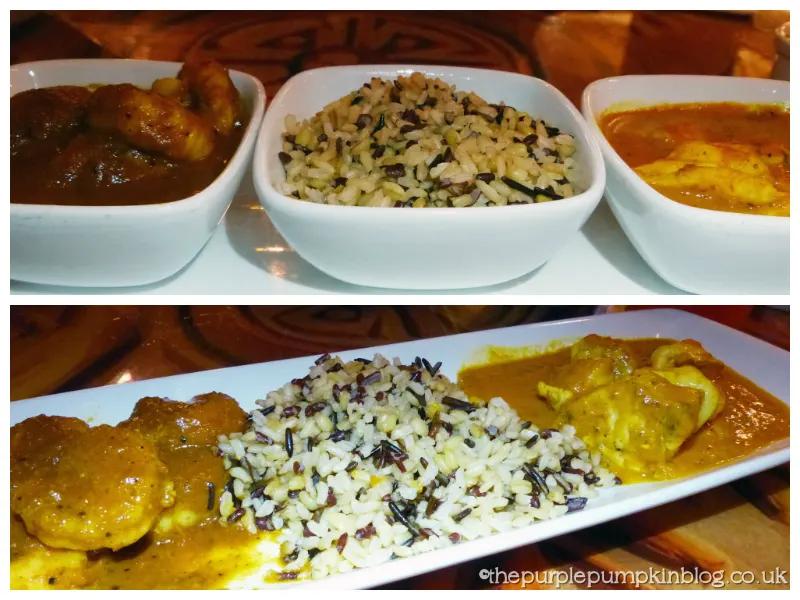 Durban Shrimp and Goan Curry at Sanaa