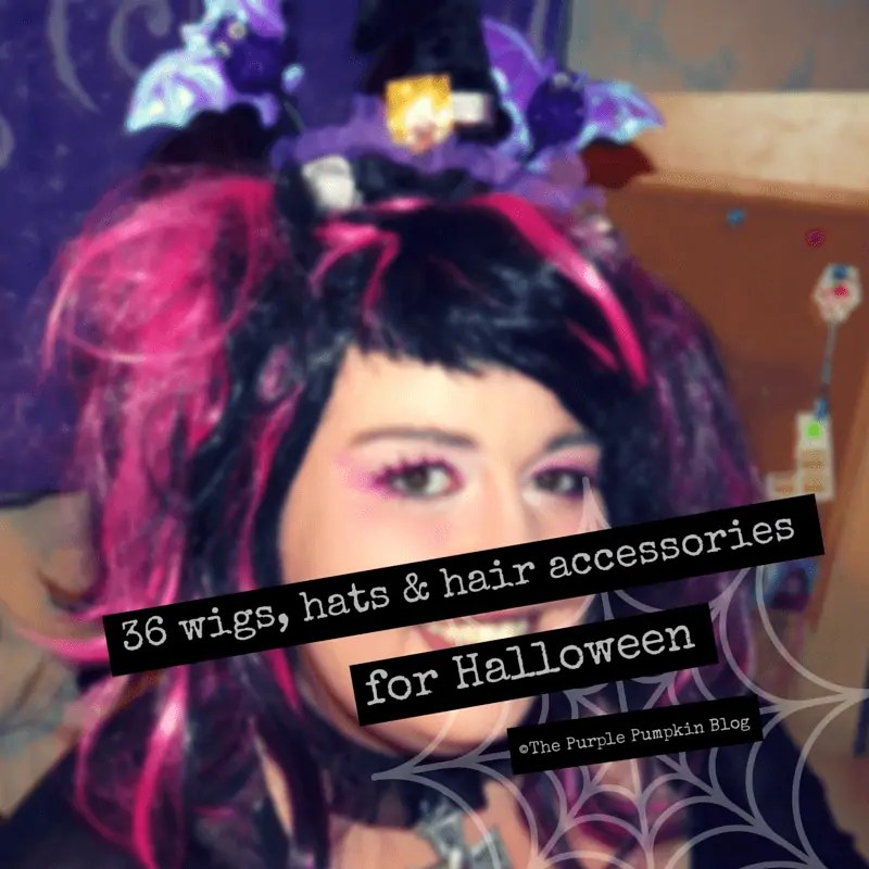 36 Wigs, Hats and Hair Accessories for Halloween