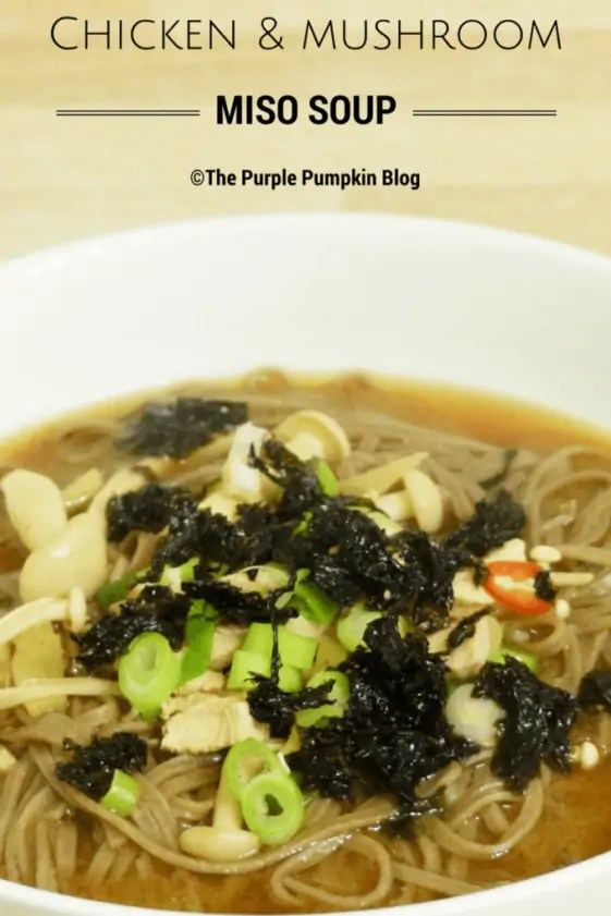 Chicken and Mushroom Miso Soup