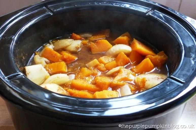 Crock Pot Slow Cooker Spicy Pumpkin and Butter Bean Soup