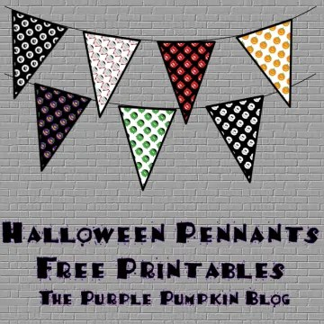 Halloween Pennants 2014 Free Printables from The Purple Pumpkin Blog