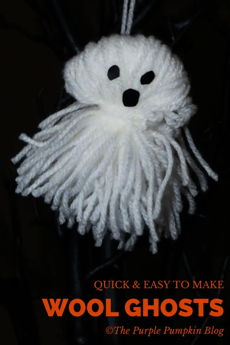 Quick and Easy to Make Wool Ghosts