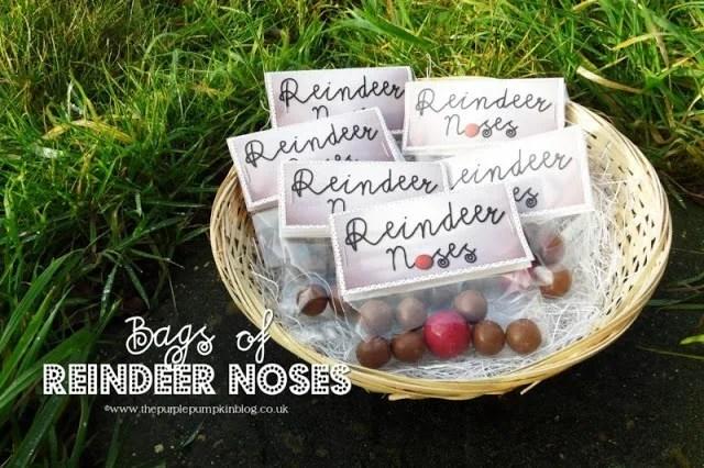 Bags of Reindeer Noses Printables