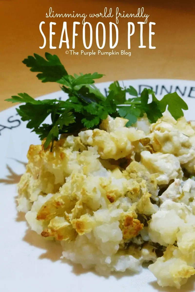 Slimming World Friendly Seafood Pie Recipe - a delicious and easy to make fish pie using white fish, smoked haddock, salmon, and other seafood of your choice such as prawns, scallops. mussels, and squid.