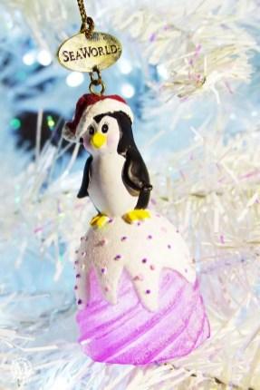 SeaWorld Penguin Christmas Ornament