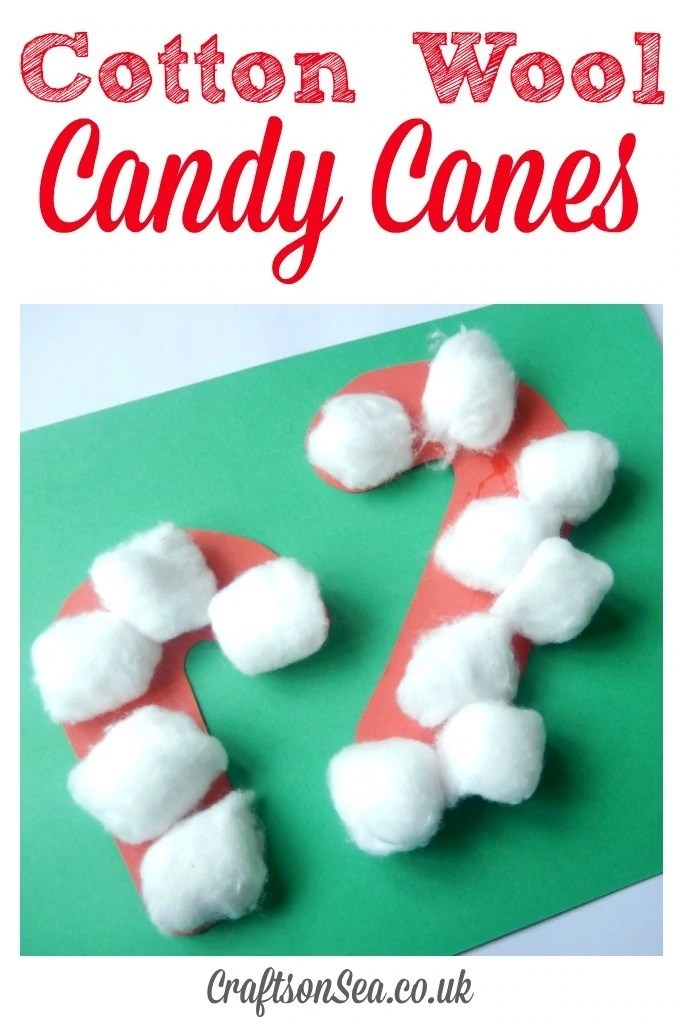 Cotton Wool Candy Canes