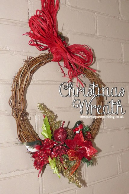 Natural Rattan Christmas Wreath