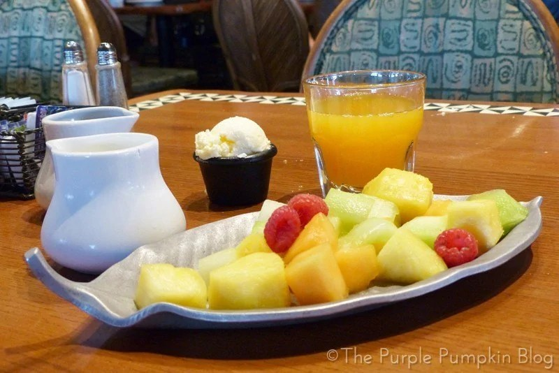 Fruit Platter at 'Ohana Character Breakfast
