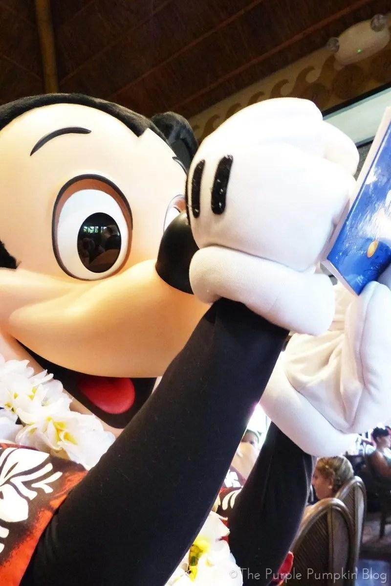 Mickey Mouse at 'Ohana Character Breakfast