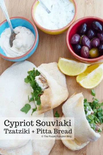 Cypriot Souvlaki, Tzatziki + Pitta Bread - all easier to prepare than you think and makes a simple, tasty dinner