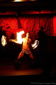 Fire Knife Dance at Spirit of Aloha Dinner Show at Disney Polynesian Resort