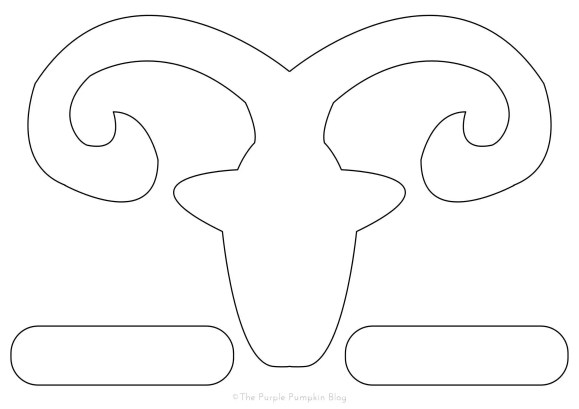Chinese New Year Goat Sheep Outline Template