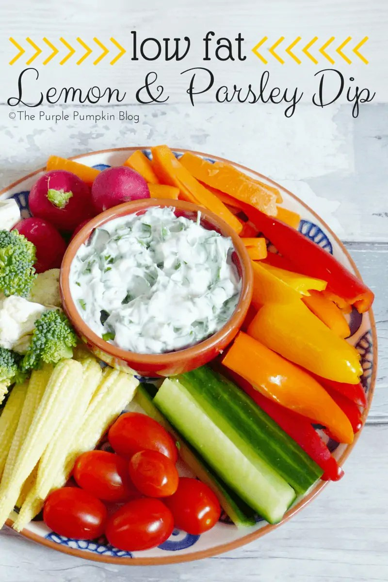 Low Fat Lemon and Parsley Dip