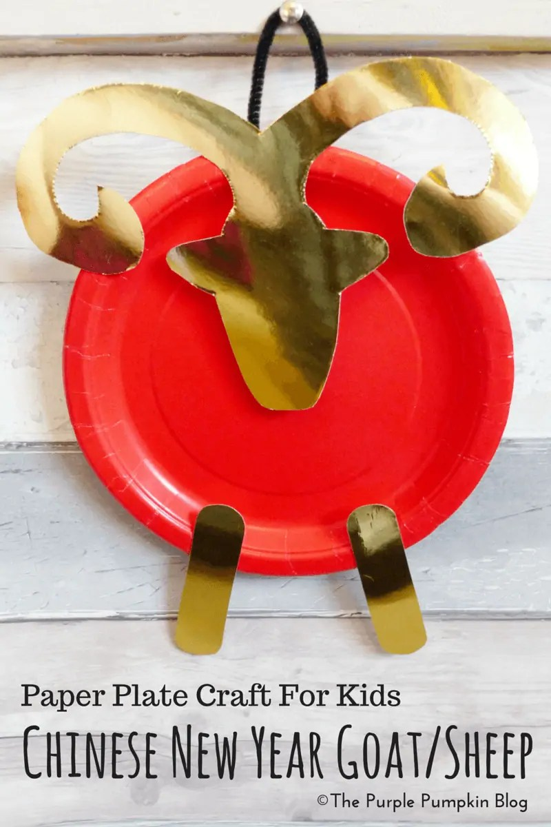 Paper Plate Craft For Kids - Chinese New Year Goat Sheep