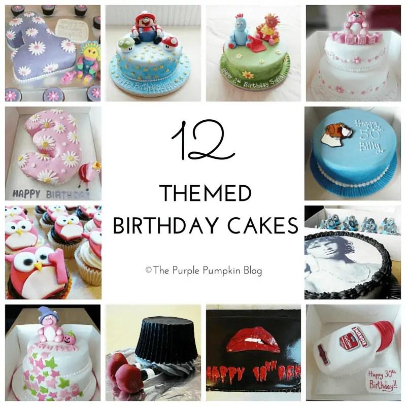 12 Themed Birthday Cakes