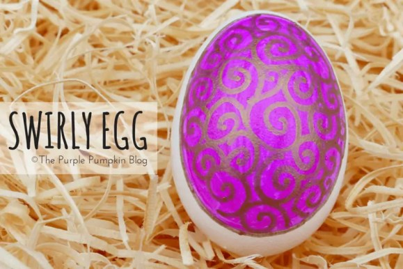 Bronze Swirly Egg