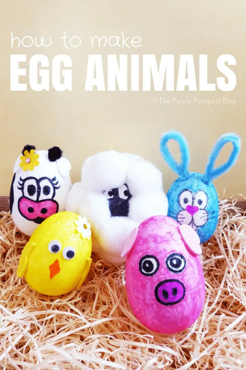 How To Make Egg Animals - Easter Craft