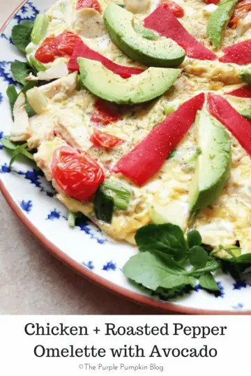 Chicken + Roasted Pepper Omelette with Avocado