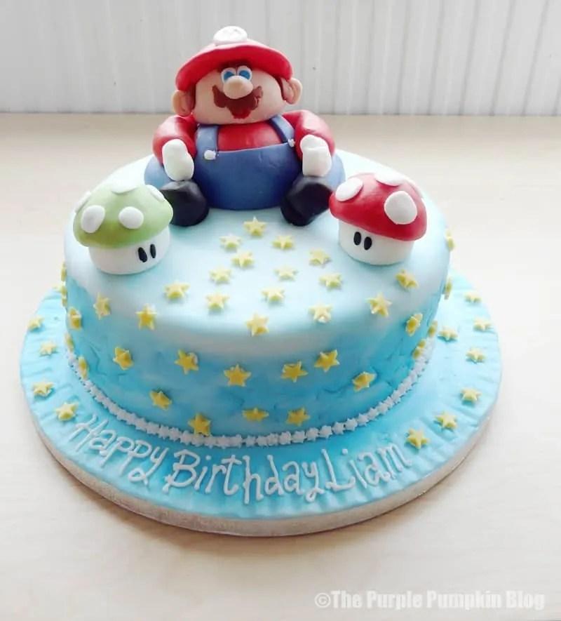 Super Mario Nintendo Themed Birthday Cake
