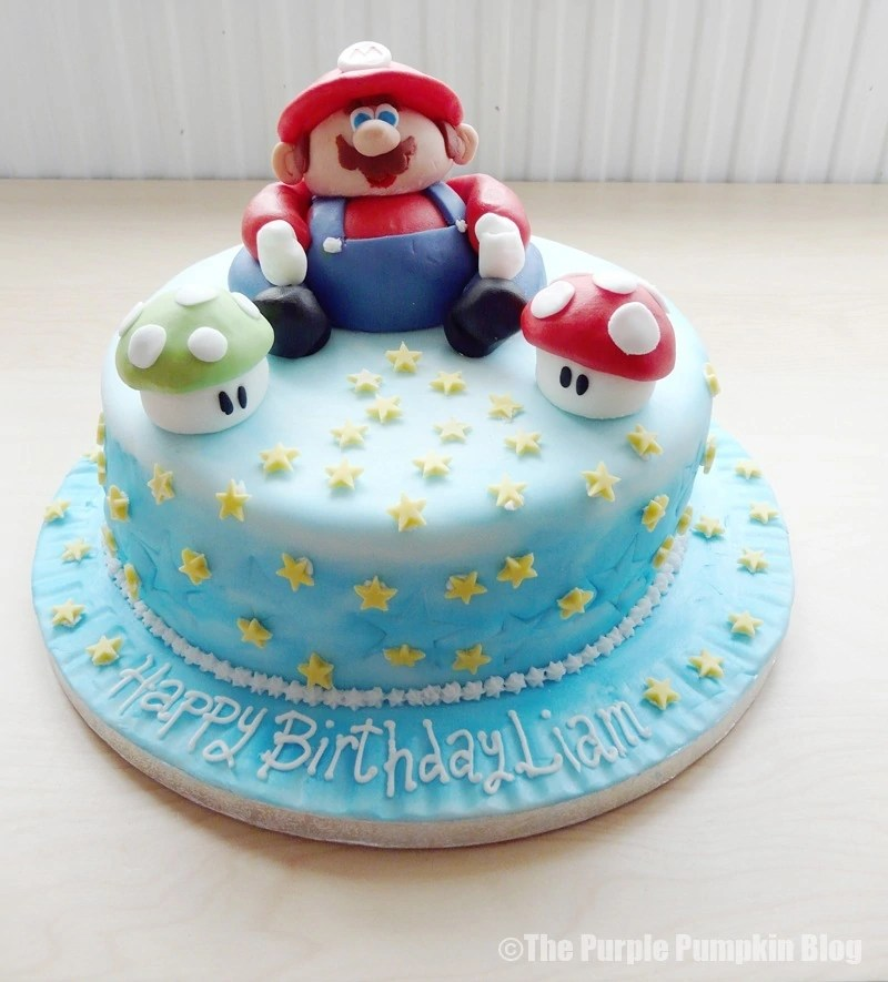 Super Mario Nintendo Themed Birthday Cake
