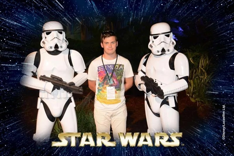 The Boy with Storm Troopers at Villains Unleashed
