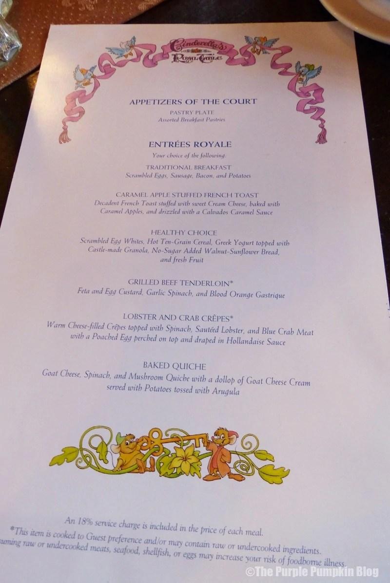 Day Festival Of Fantasy Breakfast At Cinderellas Royal Table - Cinderella's royal table prices