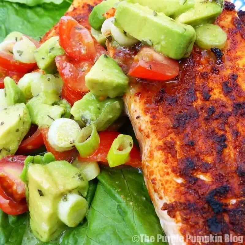 Cajun Salmon with Avocado Salsa