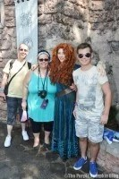 Princess Merida from Brave Meet and Greet at Magic Kingdom