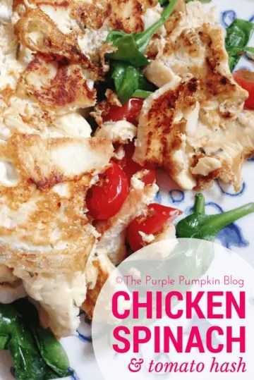 Paleo Breakfast or Lunch - Chicken Spinach Tomato Hash