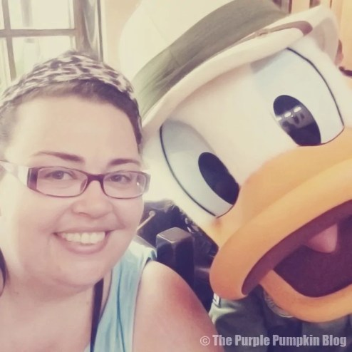 Me with Donald Duck at Tusker House