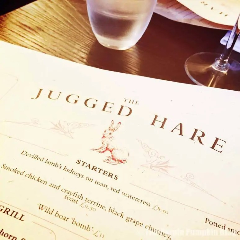 The Jugged Hare - Menu