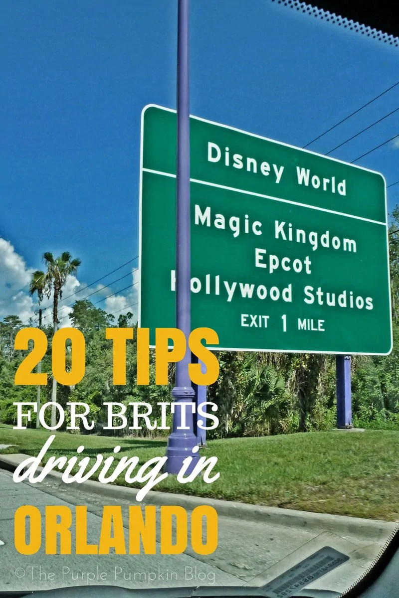 20 Tips for Brits Driving in Orlando. Do not feel daunted at the prospect of driving to Walt Disney World, Universal Studios, and the other theme parks and attractions in Orlando, Florida, read these 20 tips to understand the rules of the road. A must pin if visiting Orlando on holiday!