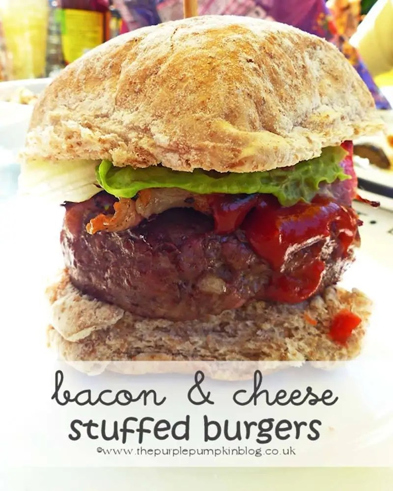Bacon and Cheese Stuffed Burgers
