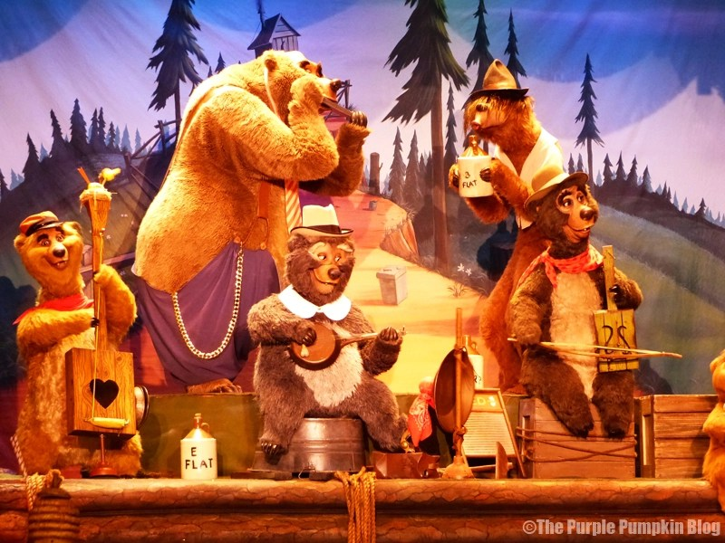 Country Bear Jamboree - Frontierland, Magic Kingdom, Walt Disney World - The Five Bear Rugs