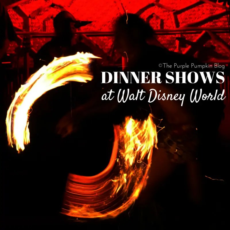 Dinner Shows at Walt Disney World - There are three fantastic ones to choose from - check out what they are and which one is a must see!