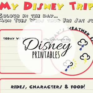 Disney Printables on The Purple Pumpkin Blog