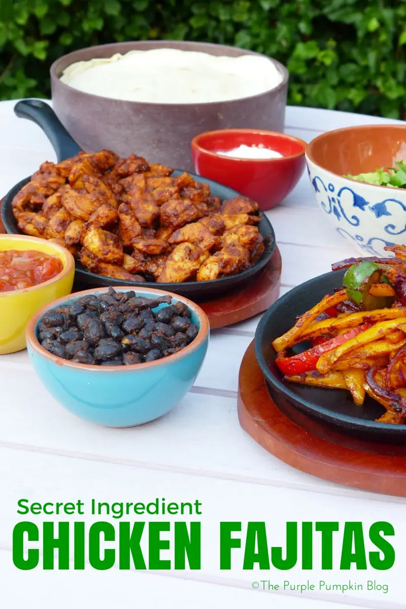 Secret Ingredient Chicken Fajitas - not just any fajitas, but ones made with the best ever guacamole and another secret ingredient!
